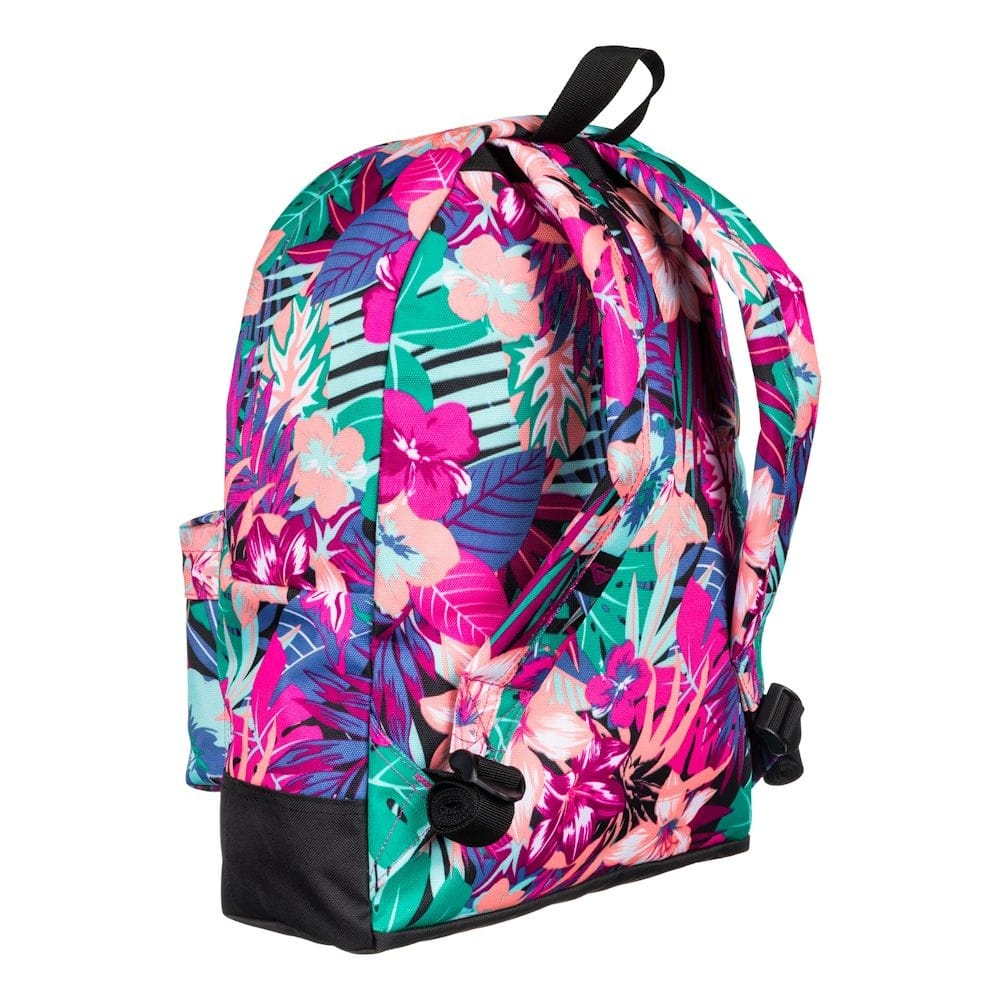 buy roxy sugar baby pink floral backpack school bag