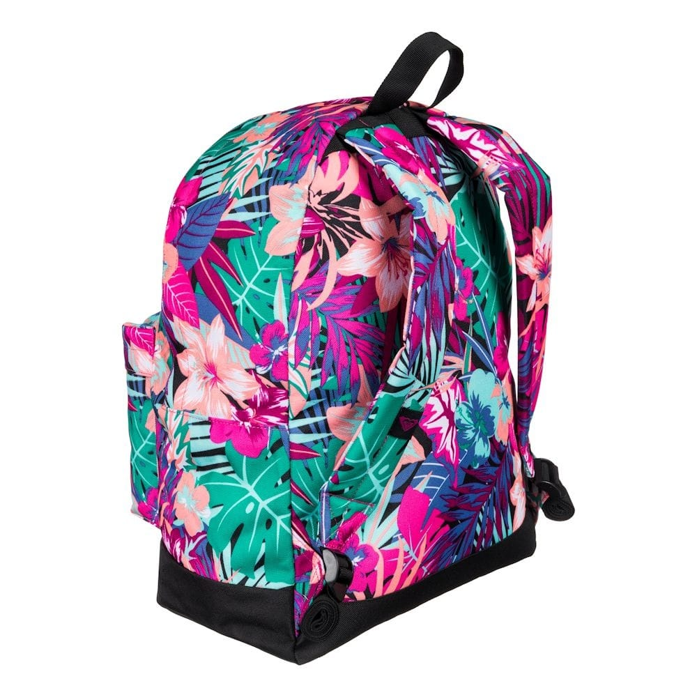 buy roxy be young pink floral backpack school bag largest roxy selection