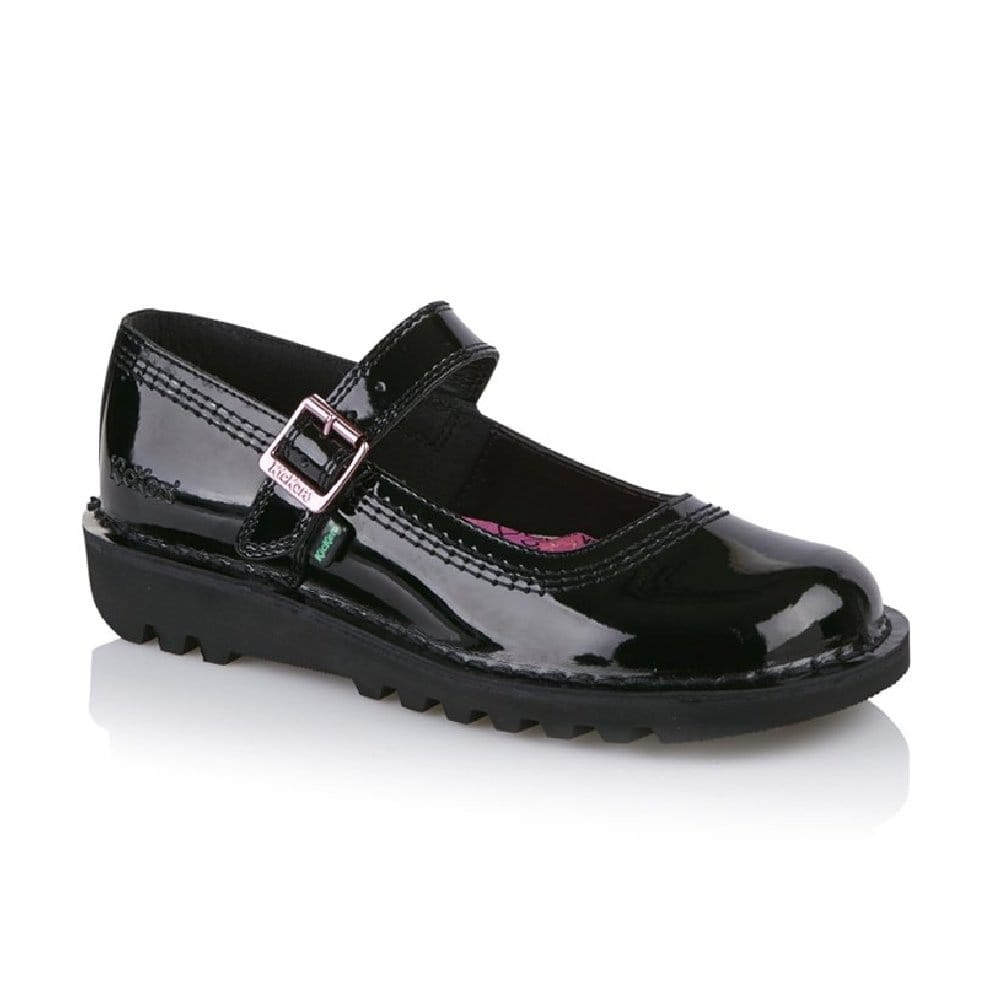 Shop Womens Kickers Kick Bar Patent School Shoe