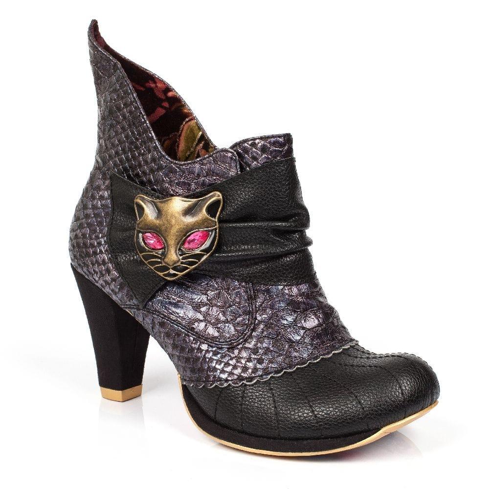 irregular choice miaow boot black millars shoe store free p p. Black Bedroom Furniture Sets. Home Design Ideas