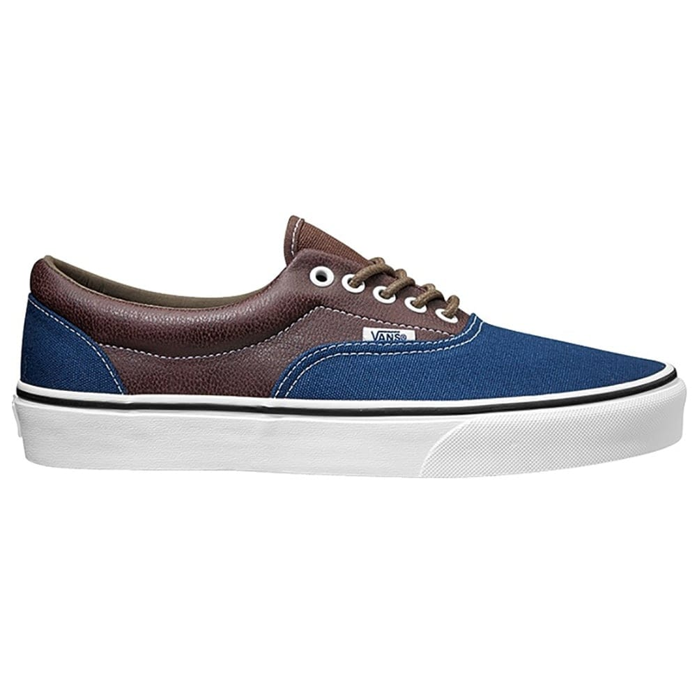 vans mens era trainers brownblue millars shoe store