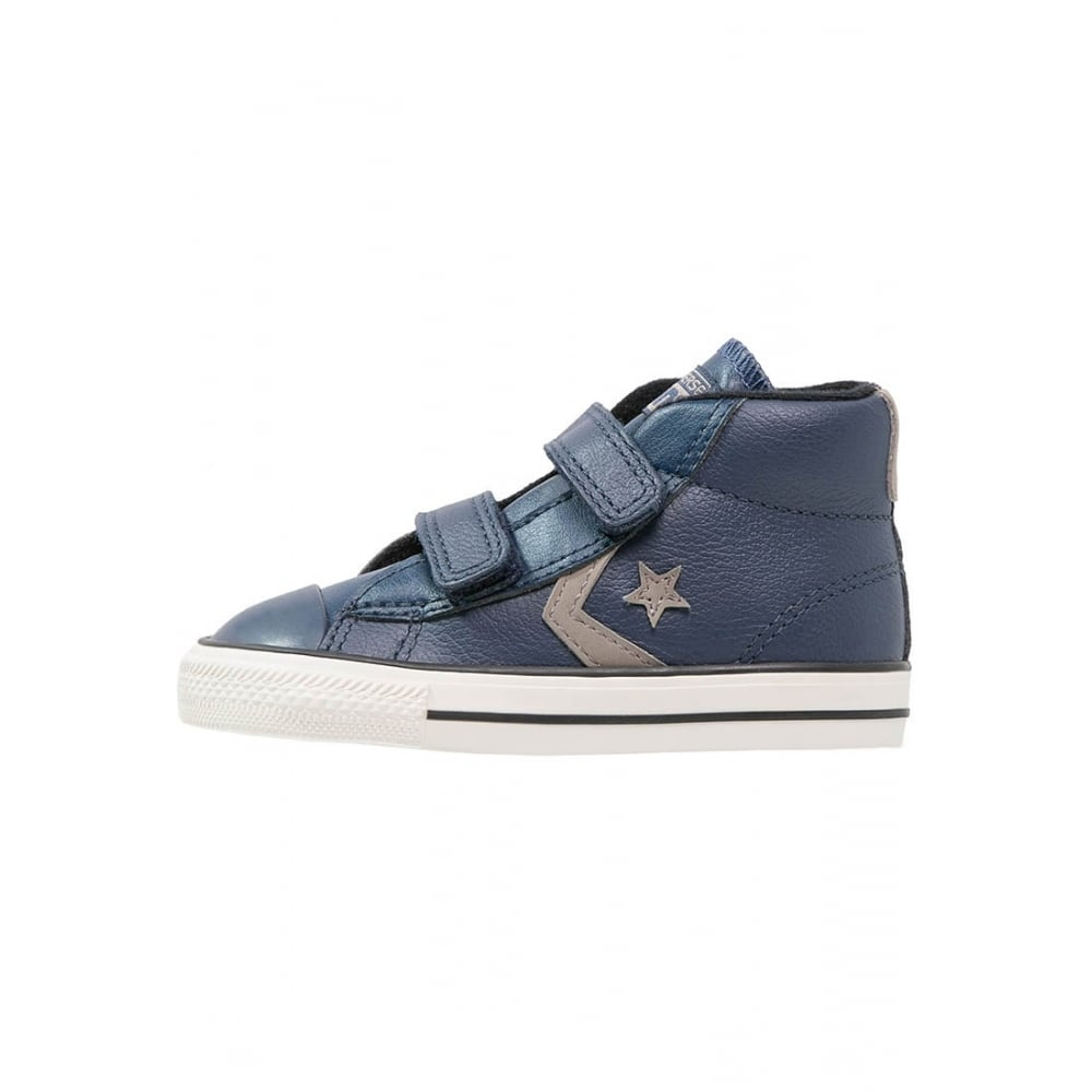 boys navy leather converse
