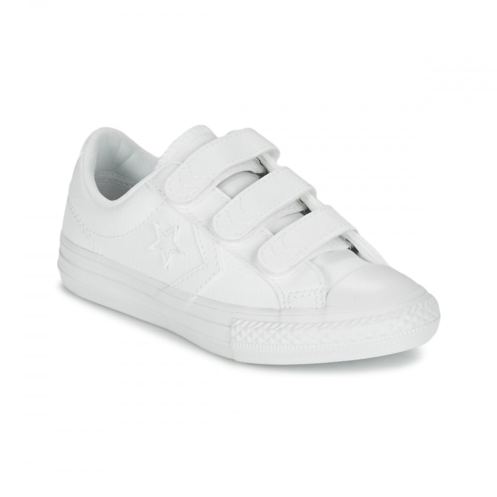 2d9570ee2f8a ... canada converse star player white leather low kids trainers 651830c  8e5bc 9316a