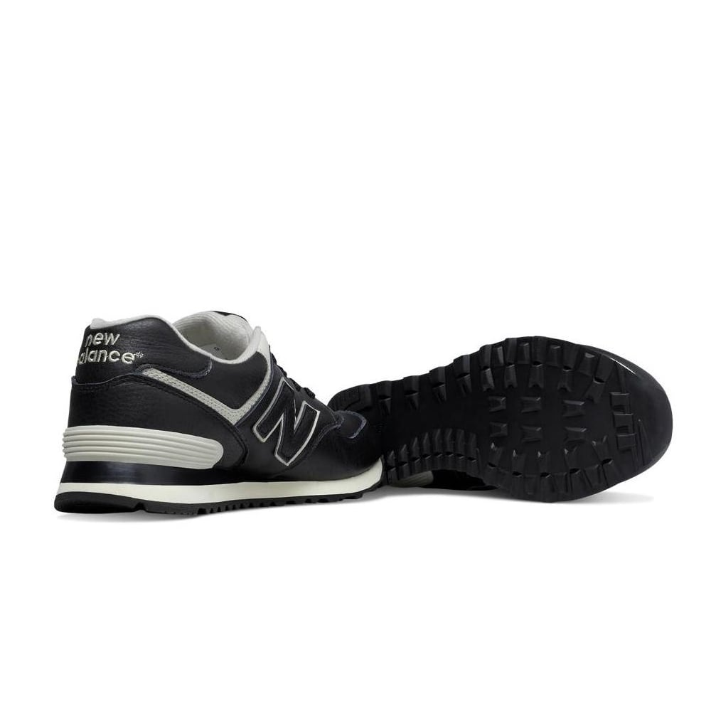new balance 574 trainers in black ml574luc