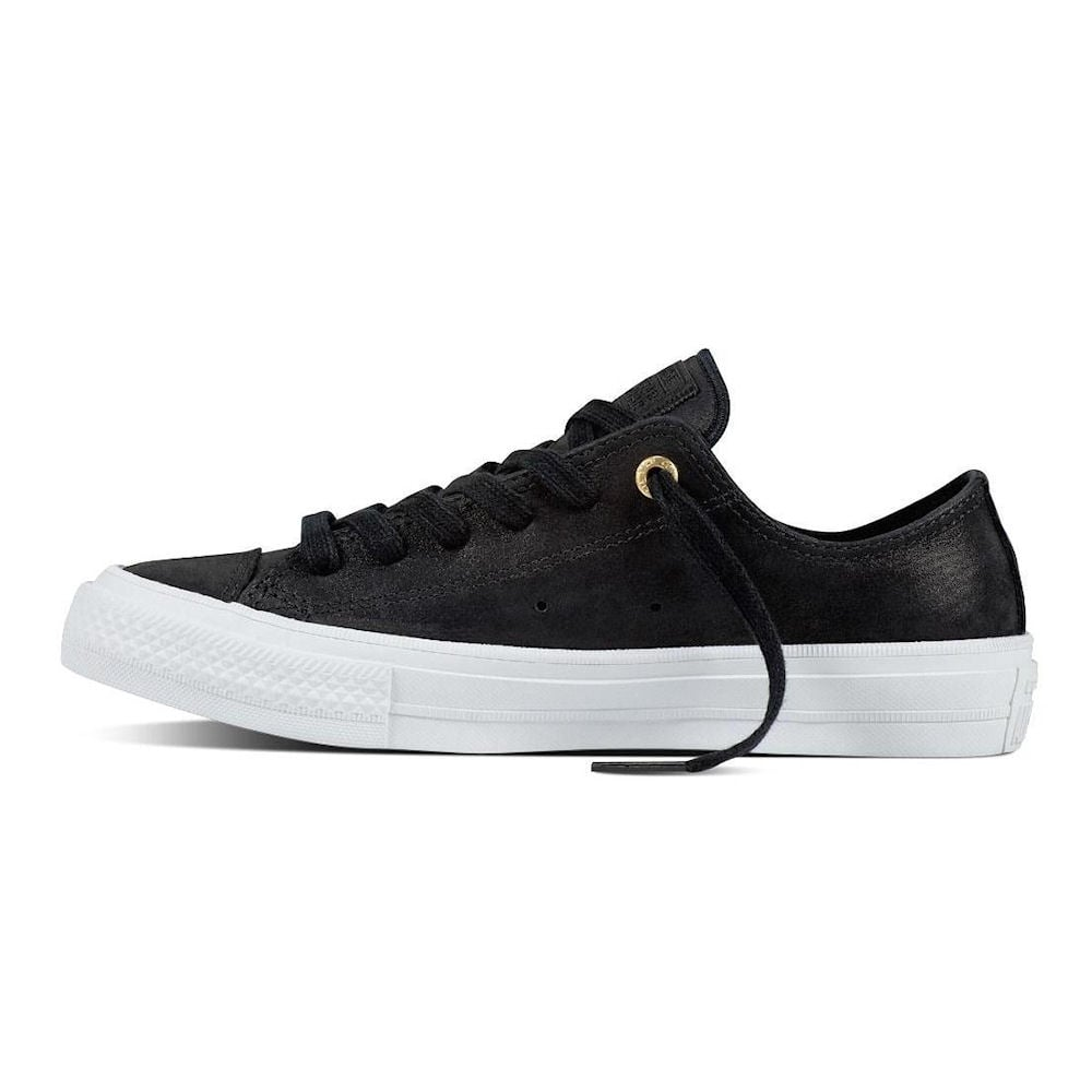 Converse chuck ii craft leather laced black trainers 555958c for Converse chuck ii craft leather low top