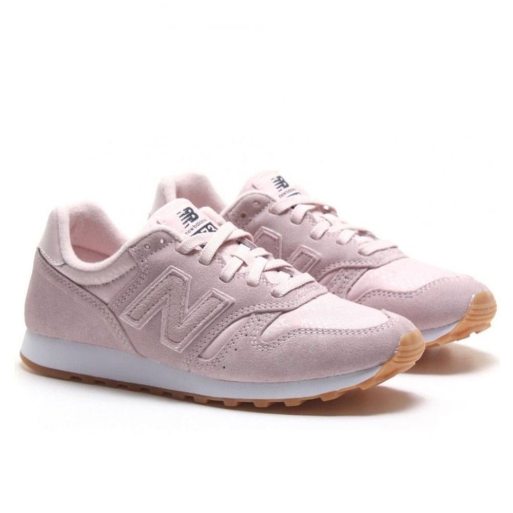 new balance classic 373 womens suede baby pink trainers. Black Bedroom Furniture Sets. Home Design Ideas