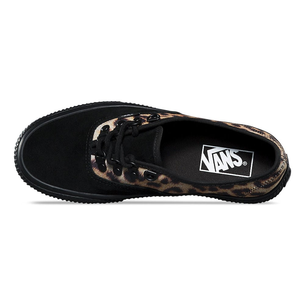 vans authentic platform leopard skate shoe