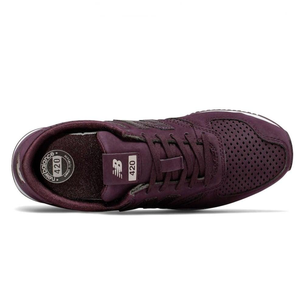 new balance 420 trainers maroon