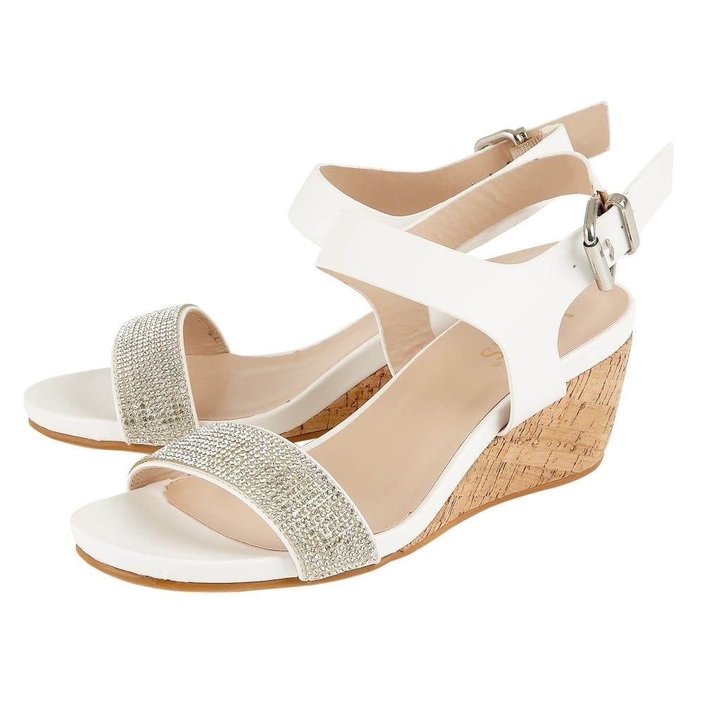 free shipping with mastercard largest supplier online Tan 'Ace' low wedge sandals for sale discount sale H1Xajcwo