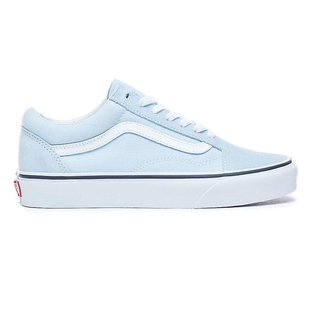 vans old skool baby blue trainers
