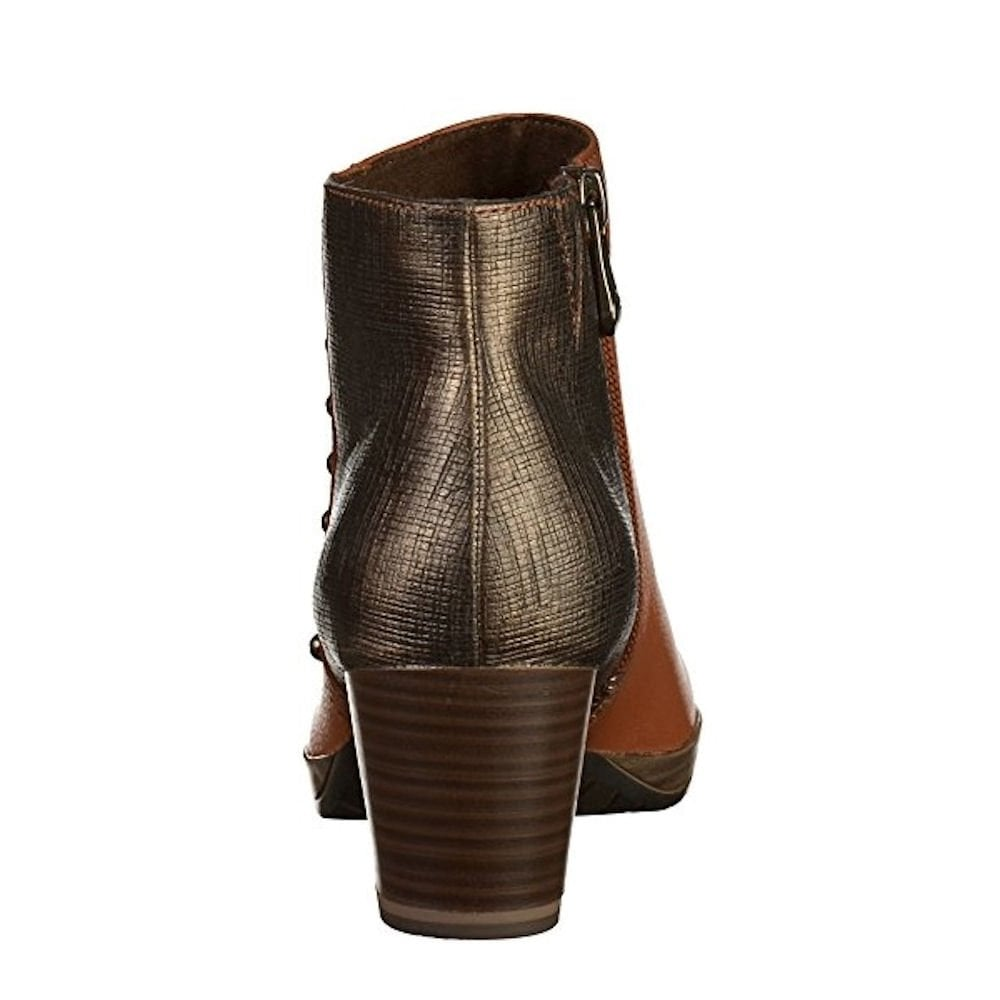 Marco Tozzi Block Heeled Leather Ankle Boots – Cognac 2-25388-31 ... cd732259419e