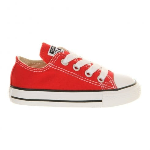 Converse Junior Red All Star Lo Ox Unisex Sneaker