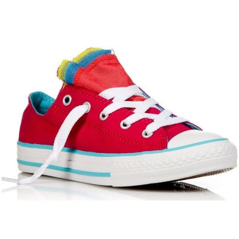 Converse Toddler/Junior Chuck Taylor All Star Party Slip On Trainer Berry  Pink