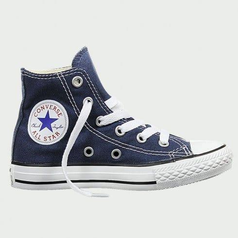Converse Junior Navy All Star Hi Top Sneaker Boot Unisex