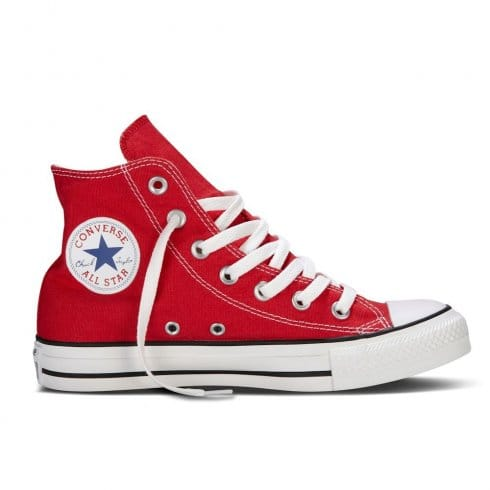 Converse Junior Red All Star Hi Top Sneaker Boot Unisex