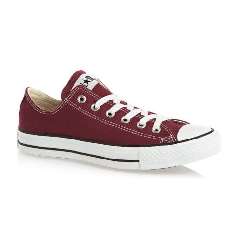 Converse Unisex Maroon Chuck Taylor All Star Lo Ox Lace Up Trainer