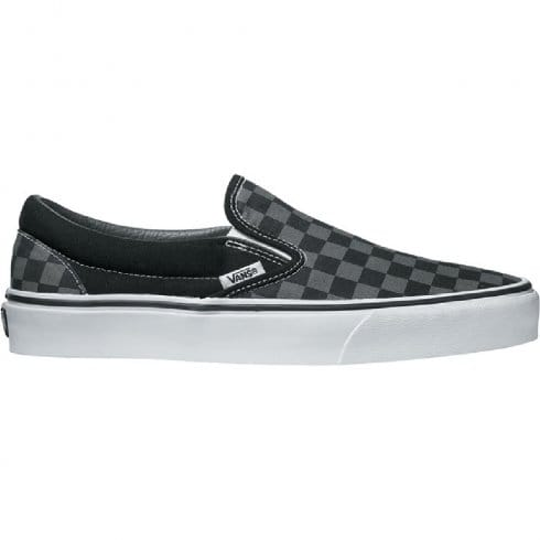 Vans Mens Classic Slip On Trainers - Black/Pewter