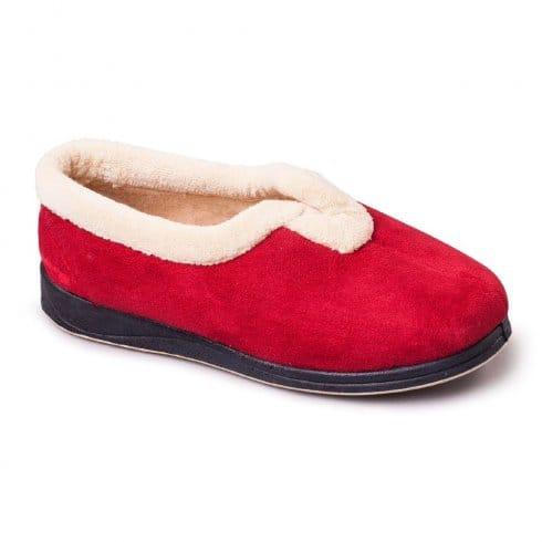 Padders Womens Carmen Slippers - Red