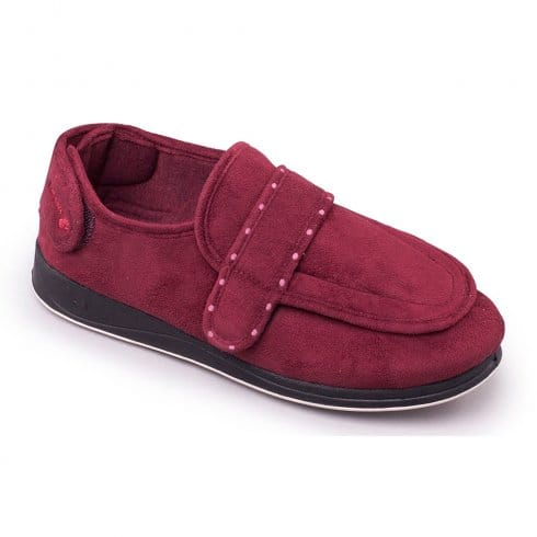 Padders Enfold Slippers - 427 - Burgundy