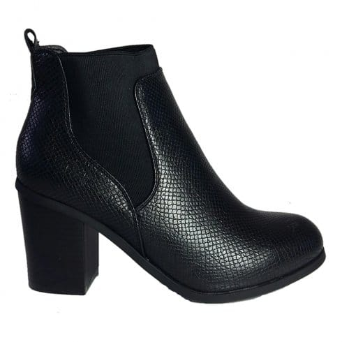 livesey womens snakeskin ankle boots l506 black millars