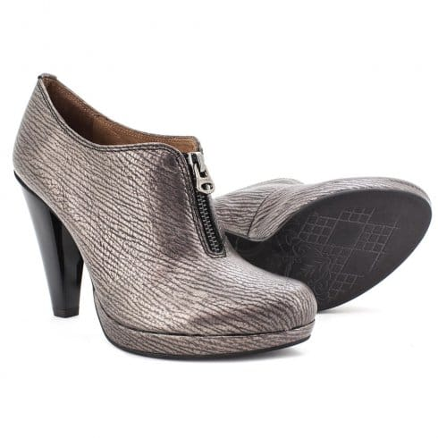 Hispanitas Odette Leather Heeled Shoe - SHI51781 - Pewter