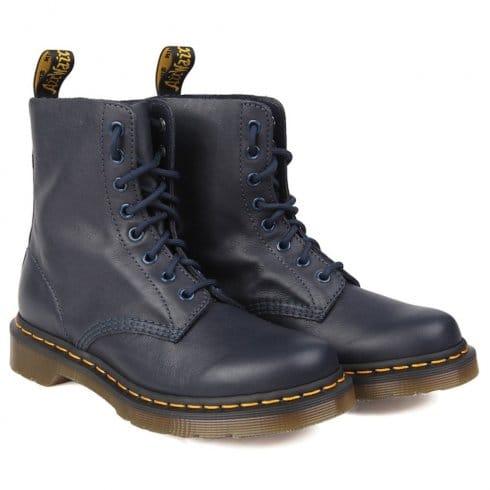 Dr. Martens Womens 1460 Pascal 8 eye boots Dress Blue- 13512410