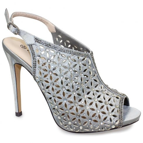Lunar Bethany Heeled Sandals - FLR343 - Silver