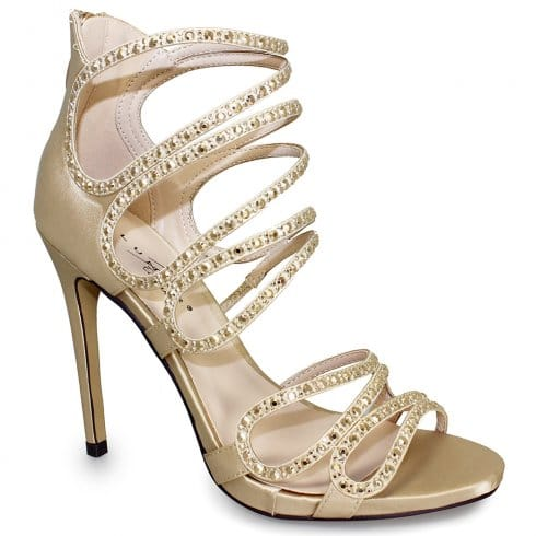Lunar Courtney Heeled Sandals - FLR349 - Gold