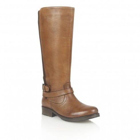 Lotus Poplar Knee High Boots - 40176 - Tan
