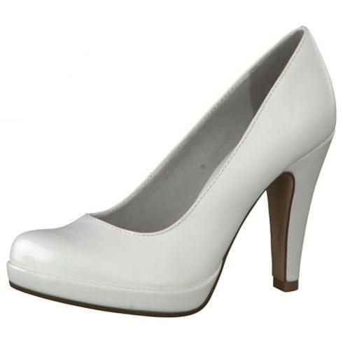 Tamaris Womens Court Heels - 22426 - White
