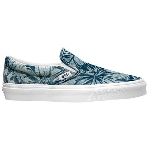 Vans Womens Classic Tropical Slip On Trainers - Blue