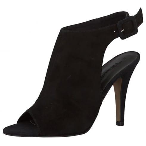 Tamaris Hi Front Covered Heels Black | Millars Shoe Store |