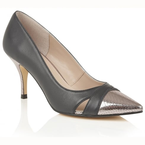 Lotus Hallmark Antonia Court Heels - Navy/Pewter