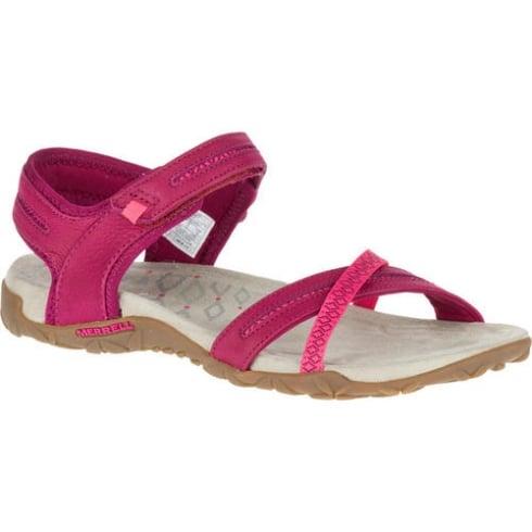 Merrell Womens Merrell Terran Cross II Sandals - Fuchsia