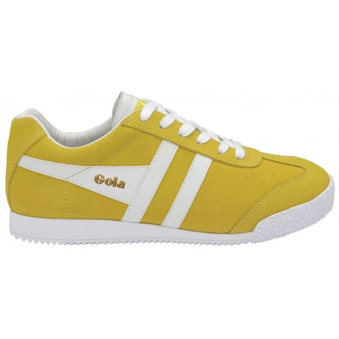 Gola Womens Harrier Suede Trainers - CLA192 - Yellow/White