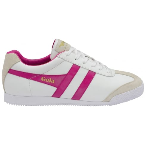 Gola Womens Harrier Leather Trainers - CLA198 - White/Pink