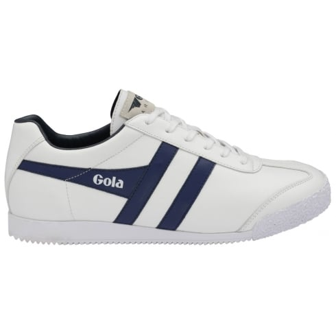 Gola Mens Harrier Leather Trainers - CMA198 - White/Navy