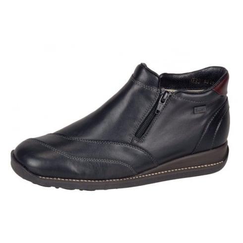 Rieker Twin Zip Boot  Black/Bordo