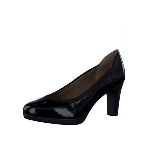 Tamaris Black Patent Heels 1-22403-27 018