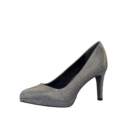 Tamaris Womens Platinum Glam Heeled Pumps- 22446-27 970