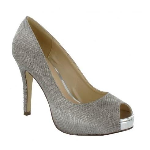 Menbur PacoMena by Menbur Cabriel Silver Pointed Court Heels