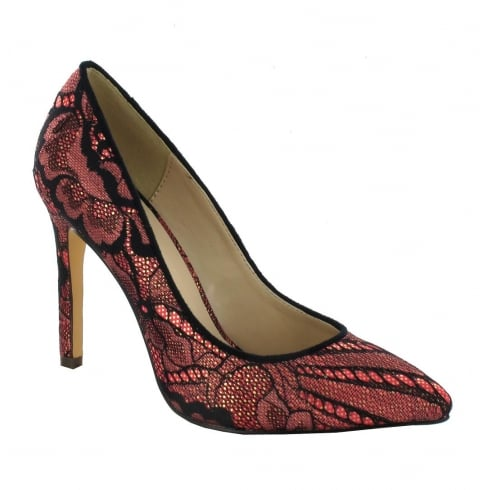 Menbur Pacomena Cherry Pointed Court Heels - 070590R77