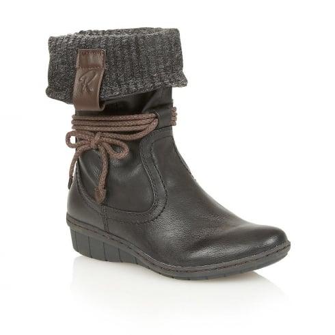 Lotus Relife Niata Black Matt Mid-Calf Boots - 50424