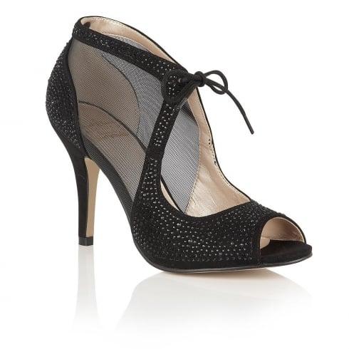 Lotus Womens Shoe Vanille Black Diamante