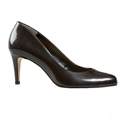 Van Dal Shoes Van Dal Albion Leather Court Heels - Grey Storm Pearlised Patent