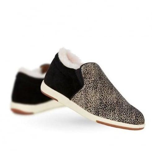 Emu Australia Emu Brunswick Fur Spot Womens Sneakers - Black/White - W11374