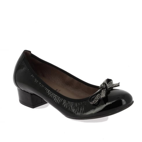 Wonders Sumatra Womens Leather Heeled Pumps - Negro - C-3142