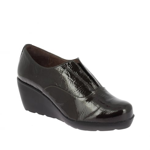 Wonders Womens Wedge Leather Shoes - Negro - H-20102