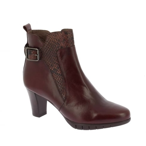 Wonders Womens Cuba Ankle Leather Boots - Brown