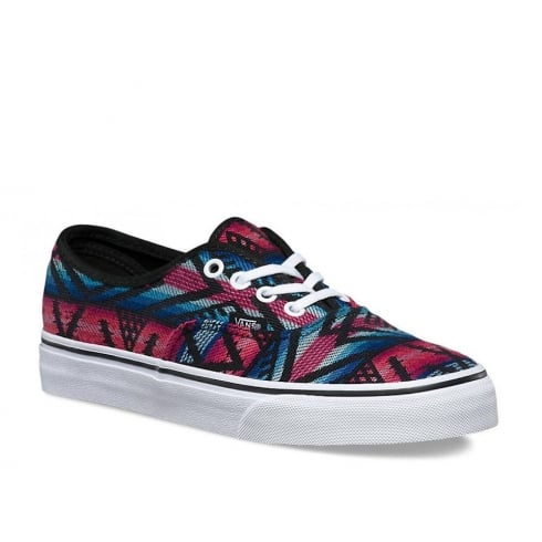 Vans Womens Authentic Moroccan Geo Canvas Shoes -Black/Multi -4MLJ0V